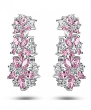 Caperci Sterling Zirconia Sapphire Earrings in Women's Drop & Dangle Earrings