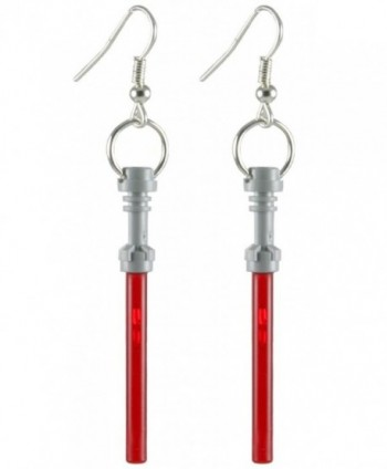 LEGO Light Saber Earrings Red Jewelry - CI11NUABZHZ