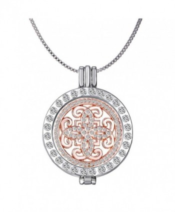 New Arrival Luxury Commemorate Coin Locket Pendant Necklace - Vintage Cross - CD12FKUSAAV