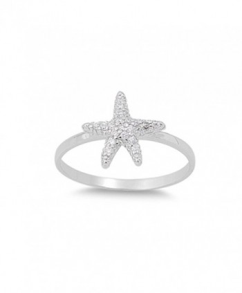 Starfish Pave Sterling Silver Star