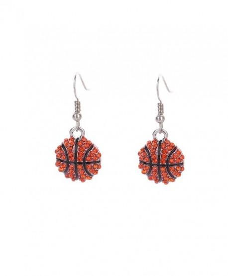 Lureme Fashion Crystal Rhinestone Fish Hook Dangle Basketball Earrings (er005452) - CV182ZO209L