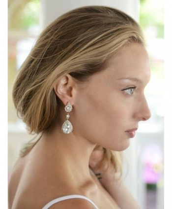 Mariell Teardrop Austrian Chandelier Earrings