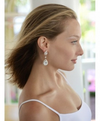 Mariell Teardrop Austrian Chandelier Earrings in Women's Drop & Dangle Earrings