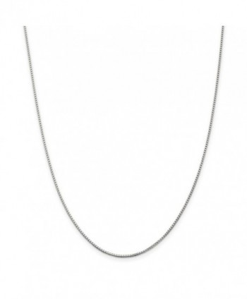 "925 Sterling Silver Solid 1.2mm Polished Box Chain Necklace 7"" - 30"" - CO11E874TYB"