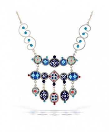 Artazia Magic Carpet Necklace in Cobalt and Sky Blue Tones N2010 - CG11C9H380X