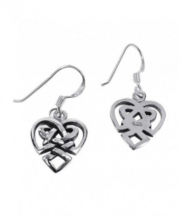 Union Celtic Sterling Silver Earrings in Women's Drop & Dangle Earrings