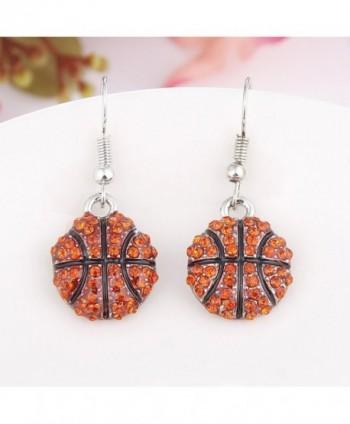 Fashion Rhinestone Basketball Earrings er005452 1