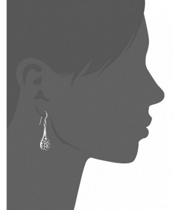 Oxidized Sterling Inspired Filigree Raindrop