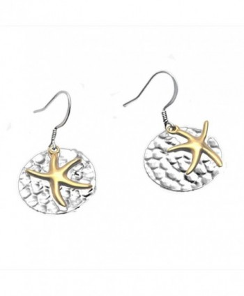 Starfish with Hammered Disc Earrings by Cape Cod Jewelry-CCJ - C911T2XC8PN