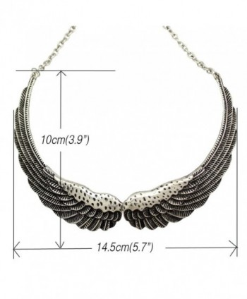 Fashion Silver Guardian Statement Necklace