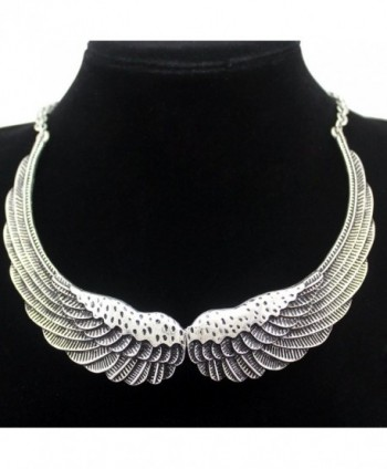 Fashion Silver Guardian Statement Necklace in Women's Collar Necklaces