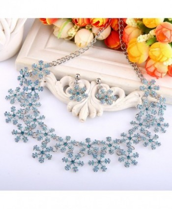EVER FAITH Snowflake Austrian Silver Tone in Women's Jewelry Sets