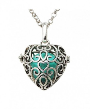 ALoveSoul Heart Shaped Ball Musical Pregnancy Belly Bell Or Baby Bell Necklace - Green - CB12MZCGNJN
