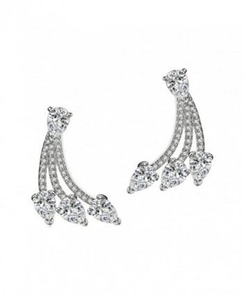 SELOVO Ear Jacket Double Use Stud Earrings Front Back - teardrop style - C212JOLKO2V