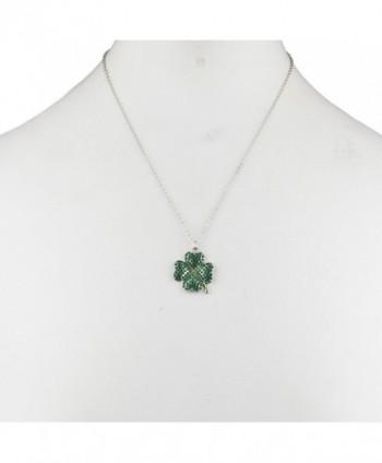 Lux Accessories Patricks Shamrock Necklace