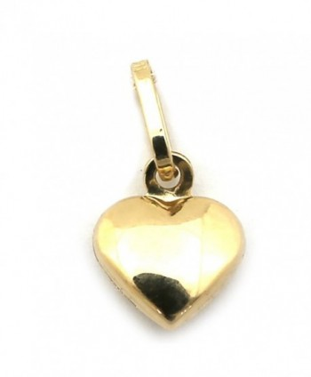 14k Yellow Gold Tiny Puffed Heart Pendant - CT12N5IH0AD