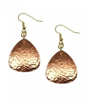 Hammered Copper Triangular Drop Earrings By John S Brana Handmade Jewelry Durable Copper Earrings - CP12BNV0EAB
