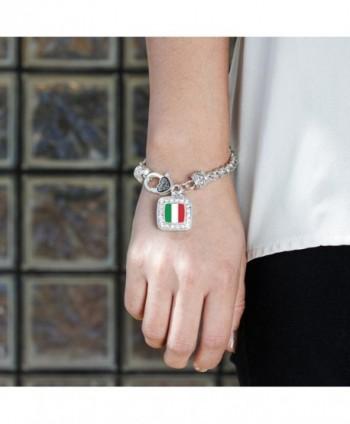 Italian Classic Silver Crystal Bracelet in Women's Link Bracelets