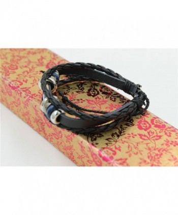 Abstruct Braided Adjustable Leather Bracelet