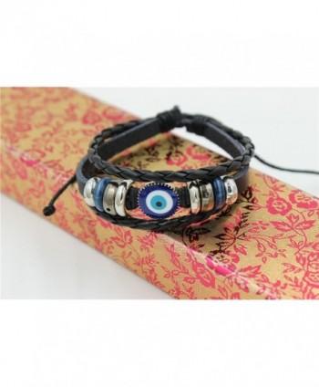 Abstruct Braided Adjustable Leather Bracelet in Women's Wrap Bracelets