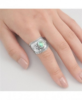 Simulated Abalone Sterling Silver Design