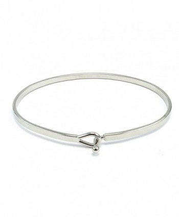 True Inspirational Bangle Bracelet Rhodium