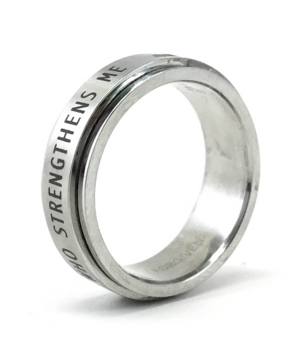 Phil 4:13 I Can Do All Things through Christ Spinner Ring - CX116EIDR6D