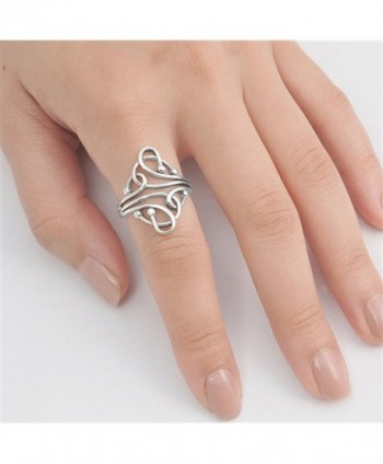 Fashion Abstract Sterling Silver RNG14974 4
