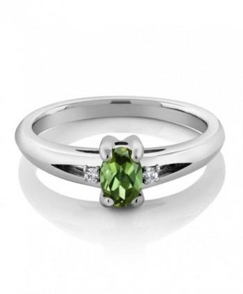 0 43 Green Tourmaline Sterling Silver