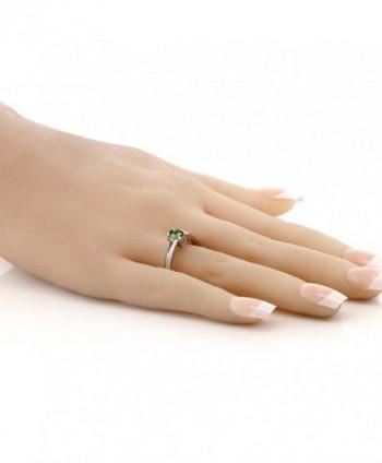 0 43 Green Tourmaline Sterling Silver in Women's Statement Rings