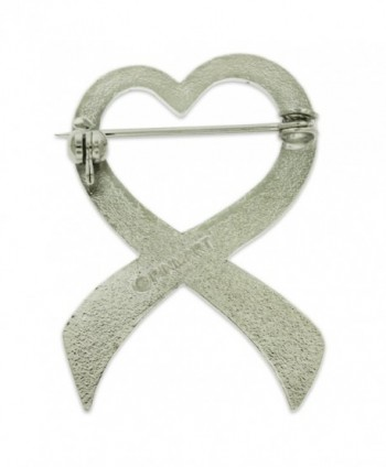 PinMarts Glitter Awareness Ribbon Enamel in Women's Brooches & Pins