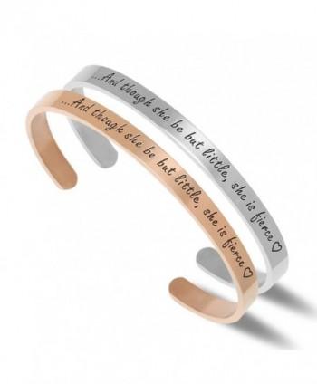 NewChiChi Bracelet Engraved Little%EF%BC%8CShe Inspirational - 2 Pack - CB180AXXAKD