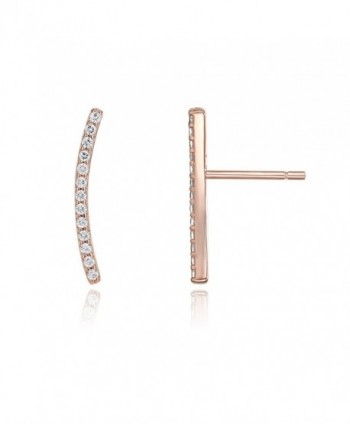 PAVOI 14K Gold Plated Ear Crawler - Cuff Earrings Hypoallergenic Sterling Silver Stud Ear Climber Jackets - C012NRERCBO