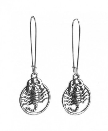 Sabai NYC Silvertone Scorpion Earrings on Stainless Steel Earwires - CC187KK5X64