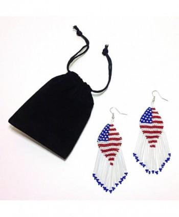 Patriotic American Chandelier Memorial Earrings
