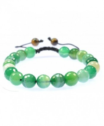 Purple Whale Green Botswana Agate Gemstone Bracelet Good for Healing and Energy-91007 - CR11C6I2KZT