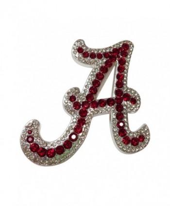 University of Alabama Crystal Emblem Brooch Pin - CD11I2YTU2R
