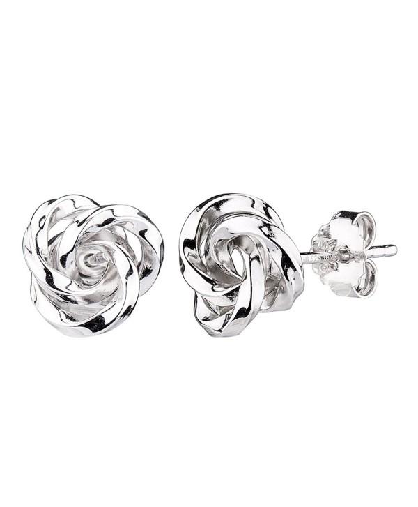 827b06aff G&H Sterling Silver Flower Love Knot Stud Earrings - CM12M0G12PP