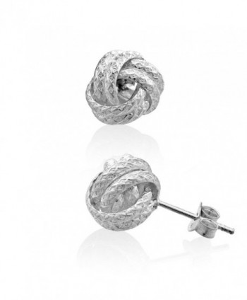 WithLoveSilver 925 Sterling Silver Thick Love Knot Stud Earrings - CD127BQUHQ9