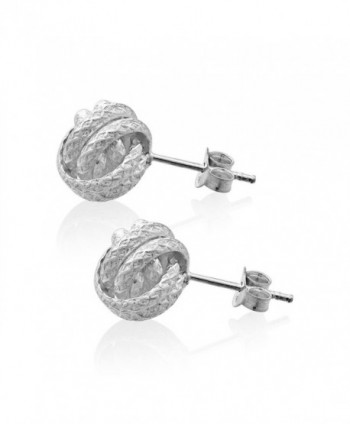 WithLoveSilver Sterling Silver Thick Earrings in Women's Stud Earrings