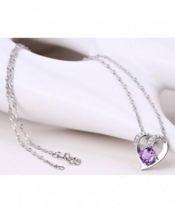 Sterling Natural Amethyst Gemstone Necklace