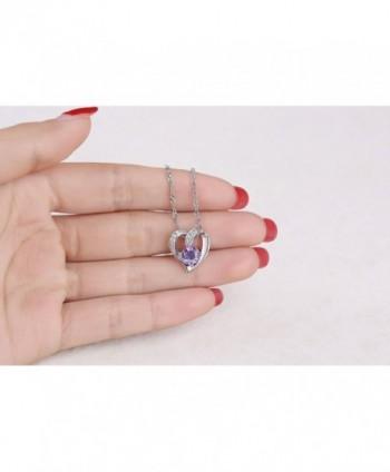Sterling Natural Amethyst Gemstone Necklace in Women's Pendants