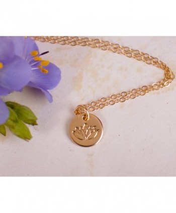Necklace Filled Pendant Dainty Flower