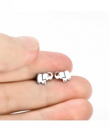 YFN Sterling Elephant Earrings elephant in Women's Stud Earrings