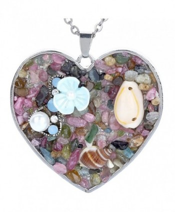 Alloy Heart Shaped Pendant Necklace Great Gift for Girlfriend- Women- Mother - CI189ZR6GKW