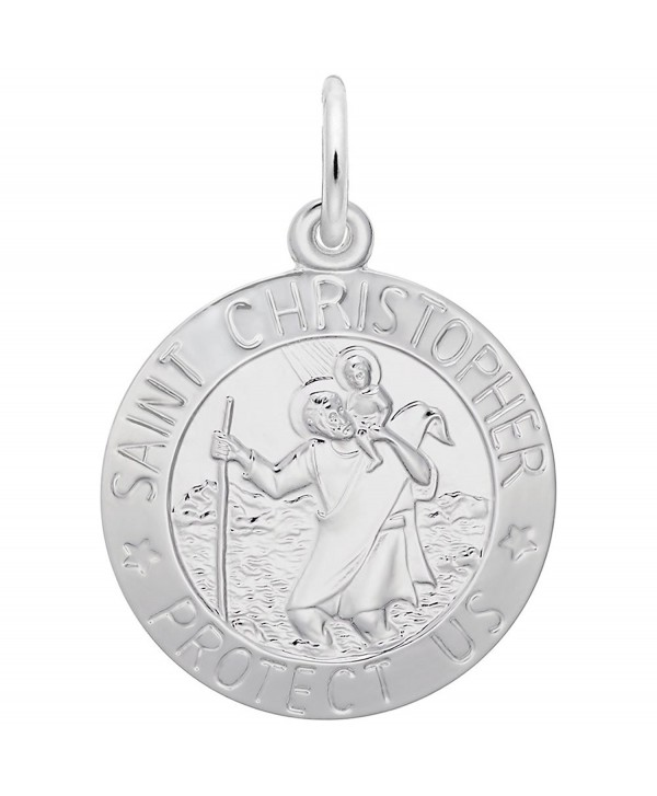 St. Christopher Charm- Charms for Bracelets and Necklaces - C1186H3TTDI