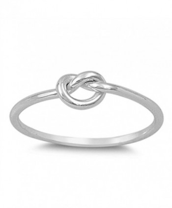CHOOSE YOUR COLOR Sterling Silver Knot Ring - CI11Y23O379