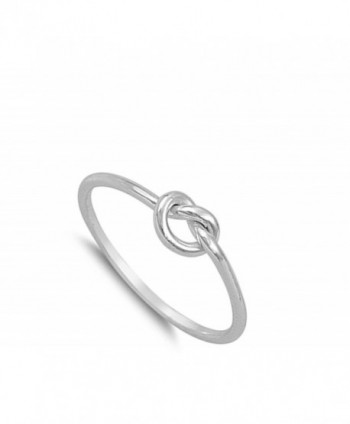 Infinity Knot Sterling Silver RNG14788 8 in Women's Band Rings
