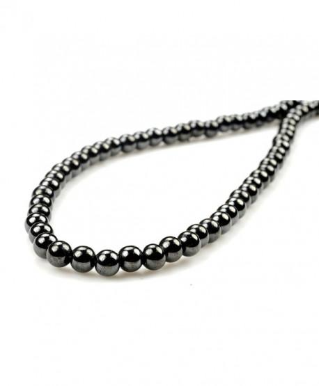 "Purple Whale 20"" Magnetic Hematite Round Bead Necklace - 91179 - C311DGQNGPX"