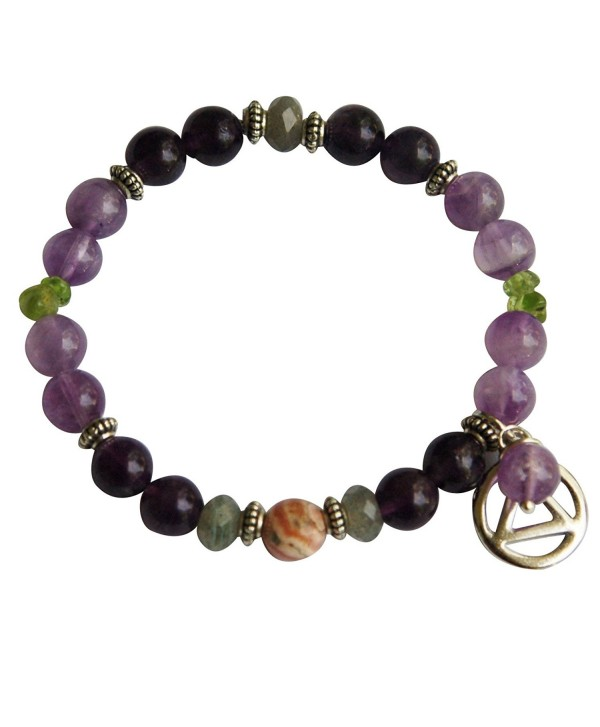 Serenity + Sobriety Spiritual Bracelet for Overcoming Addictions - C511EEFZWWP